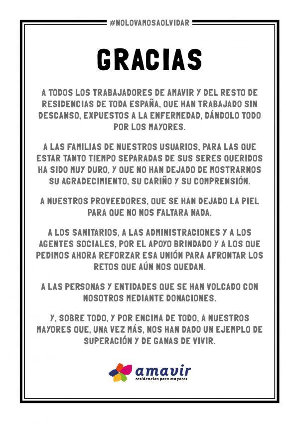 GRACIAS #NOLOVAMOSAOLVIDAR